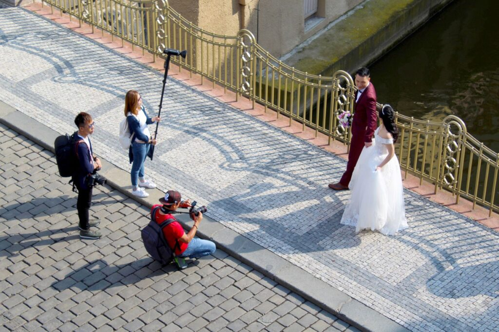 wedding photography with assistants